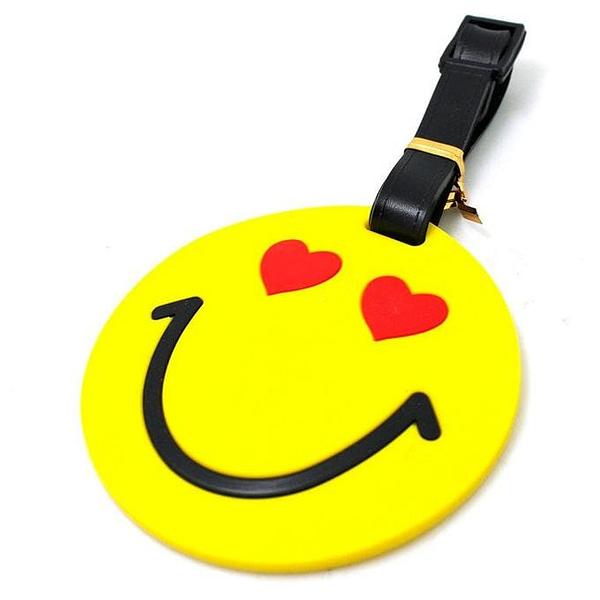 """ВВ-07 Бирка для багажа Смайл с сердечками фото сбоку товары для путешественников интернет-магазин """"В Отпуск"""" от SeredinaLeta"""