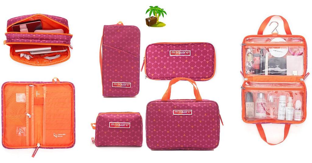 Фото для соцсетей поздравительный набор в подарок сестре розовый. Два органайзера и 2 косметички. Интернет-магазин В отпуск