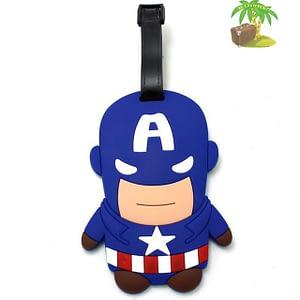 """ВВ-19 Бирка для багажа Капитан Америка фото анфас товары для путешественников интернет-магазин """"В Отпуск"""" от SeredinaLeta"""