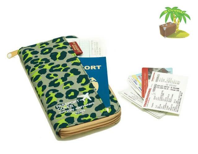 Фото дорожный органайзер цвета зеленый леопард в сравнении с карточками. Товары для отдыха. Интернет-магазин В Отпуск