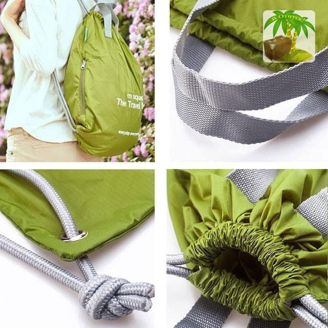 Фото ручки и завязки водонепроницаемых портативных сумок-рюкзаков для спорта и путешествий. Товары для отдыха. Интернет-магазин В Отпуск