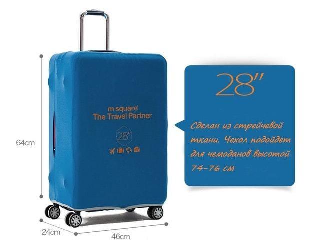 Фото описание большого размера L 28 дюймов чехлов для чемоданов высотой 74-76см. Товары для отдыха. Интернет-магазин В Отпуск