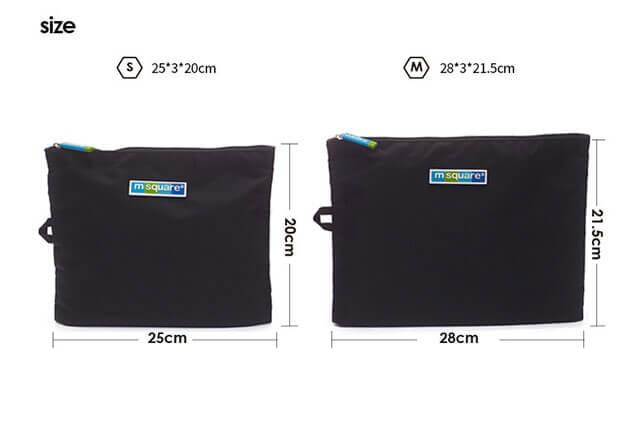 Фото размеры черных мешочков для белья и мелочей на молнии. Товары для отдыха. Интернет-магазин В Отпуск