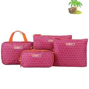 Главное фото подарок для мамы розовый. Набор косметичка, органайзер для гаджетов и мешочки на молнии