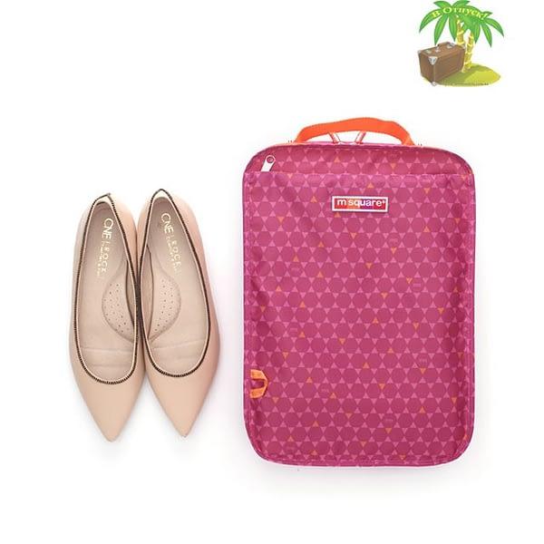 Фото лицо розового чехла для обуви в ромбик. Товары для отдыха. Интернет-магазин В Отпуск