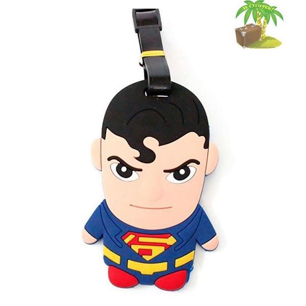 """ВВ-20 Бирка для багажа Супермен фото анфас товары для путешественников интернет-магазин """"В Отпуск"""" от SeredinaLeta"""
