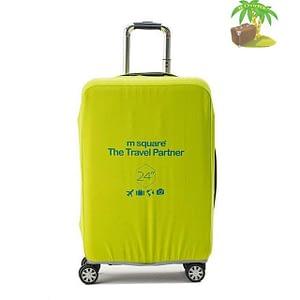 Главное фото салатово-лимонный эластичный чехол размер М для среднего чемодана высотой 64-66см. Товары для отдыха. Интернет-магазин В Отпуск