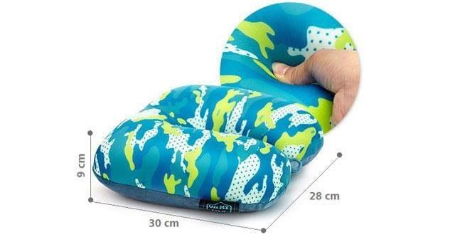 MS-059 Дорожная подушка милитари синяя фото размеры. Товары для отдыха. Интернет-магазин В Отпуск!