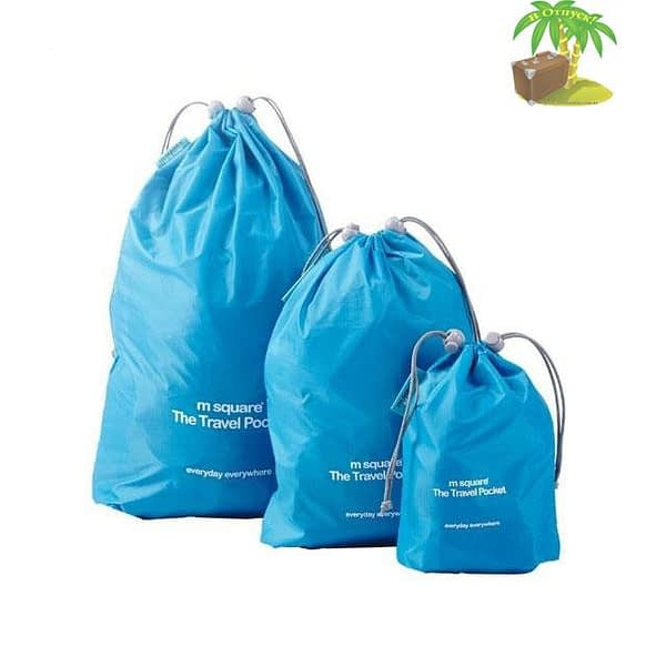 MS-016 Набор голубых водонепроницаемых мешочков для белья главное фото. Товары для отдыха. Интернет-магазин В Отпуск