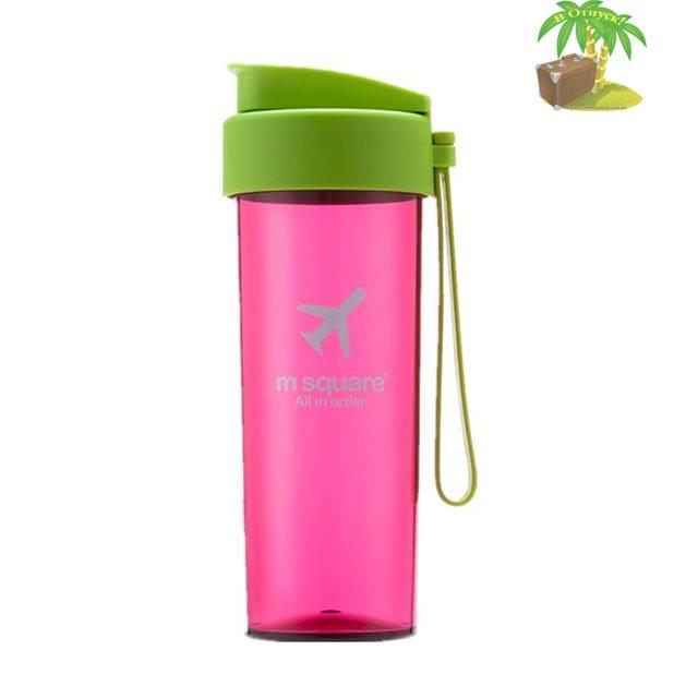 Фото бутылка для воды из большого розового подарочного набора. Интернет-магазин В Отпуск
