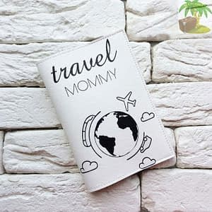 Обложка на паспорт Travel Mommy белая арт 034 Фото 1