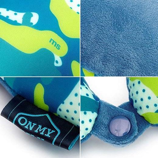 MS-059 Дорожная подушка милитари синяя фото детали качества. Товары для отдыха. Интернет-магазин В Отпуск!