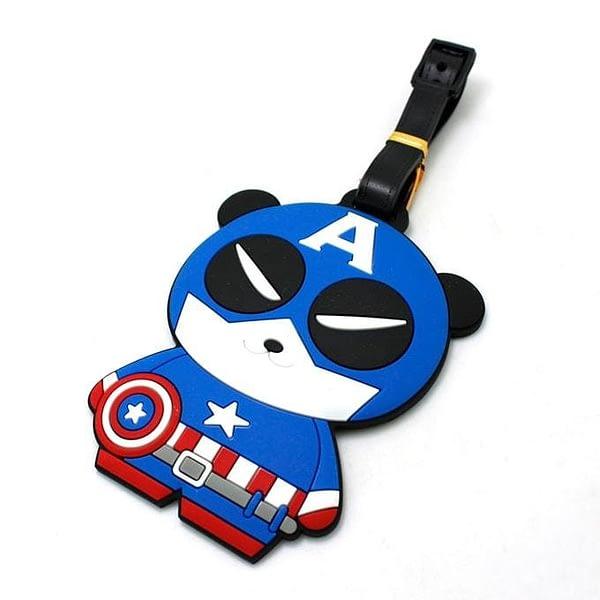 """ВВ-11 Бирка для багажа Панда Капитан Америка фото сбоку товары для путешественников интернет-магазин """"В Отпуск"""" от SeredinaLeta"""