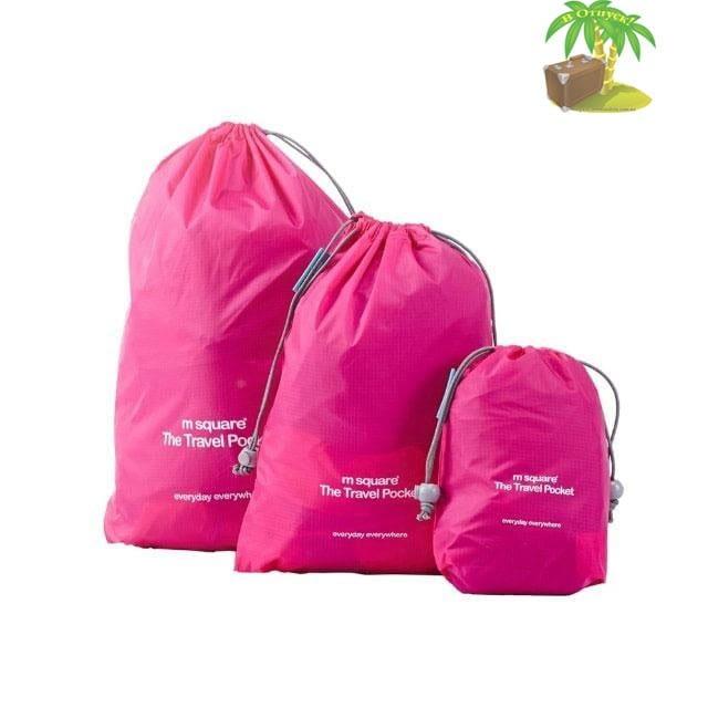 MS-015 Набор розовых водонепроницаемых мешочков для белья главное фото. Товары для отдыха. Интернет-магазин В Отпуск