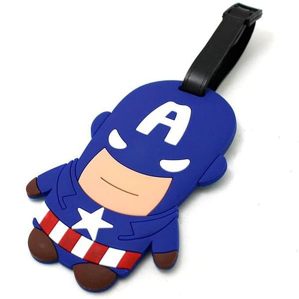 """ВВ-19 Бирка для багажа Капитан Америка фото сбоку товары для путешественников интернет-магазин """"В Отпуск"""" от SeredinaLeta"""