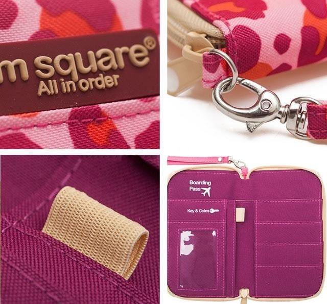 Органайзер для документов, посадочных талонов, билетов, купюр и паспортов розовый леопард детали качества