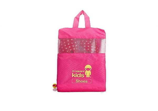 MS-001K Фото 1 розовый детский набор сумок из 4х элементов - сумка для обуви. Товары для отдыха интернет-магазин В Отпуск
