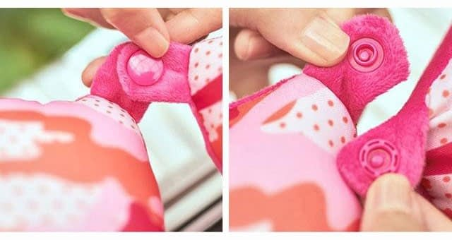 MS-060 Дорожная подушка милитари розовая фото детали качества. Товары для отдыха. Интернет-магазин В Отпуск!