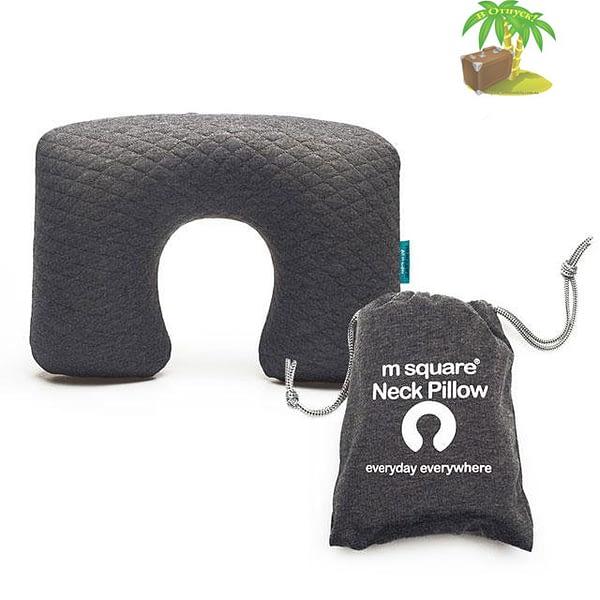 MS-061-Надувная подушка серая для автомобиля и перелетов главное фото. Товары для отдыха. Интернет-магазин В Отпуск