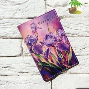 Главное фото паспортная обложка Ирисы. Коллекция обложек для загранпаспорта Цветы
