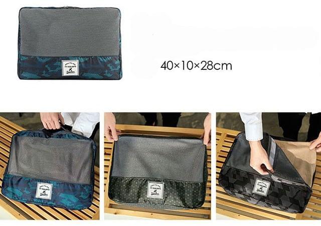 Фото размеры блока для одежды в наборе дорожных сумочек. Товары для отдыха. Интернет-магазин В Отпуск
