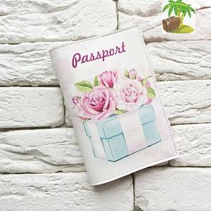 Главное фото паспортная обложка Подарок. Коллекция обложек для загранпаспорта Цветы