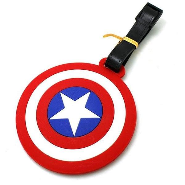 """ВВ-27 Бирка для багажа Знак Капитан Америка фото сбоку товары для путешественников интернет-магазин """"В Отпуск"""" от SeredinaLeta"""