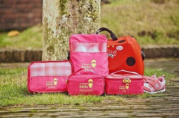 MS-001K Фото розовый детский набор сумок 4 предмета на природе.Товары для отдыха интернет-магазин В Отпуск