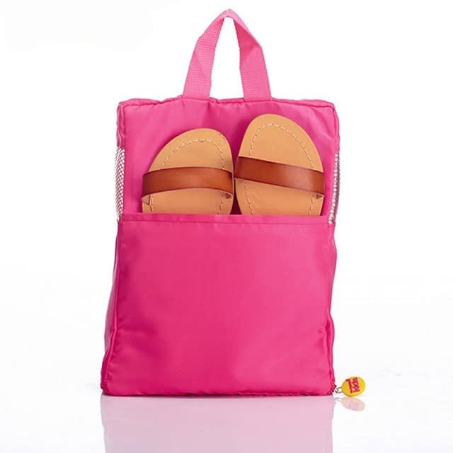 MS-001K Фото 2 розовый детский набор сумок из 4х элементов - обувная сумка. Товары для отдыха интернет-магазин В Отпуск