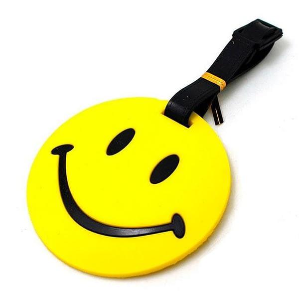 """ВВ-06-Бирка для багажа Смайл фото сбоку товары для путешественников интернет-магазин """"В Отпуск"""" от SeredinaLeta"""
