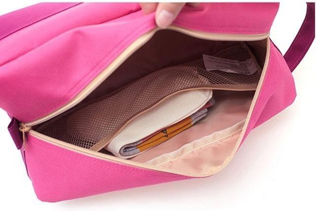 Фото розовый тканевый чехол для обуви изнутри. Товары для отдыха. Интернет-магазин В Отпуск