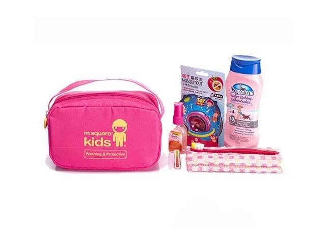 MS-001K Фото розовый детский набор сумок из 4х элементов - косметичка. Товары для отдыха интернет-магазин В Отпуск