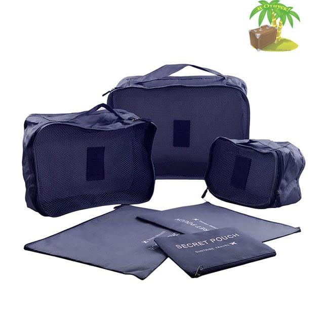 DS-10S Малый набор сумочек в чемодан синий фото полного комплекта. Товары для отдыха. Интернет-магазин В Отпуск
