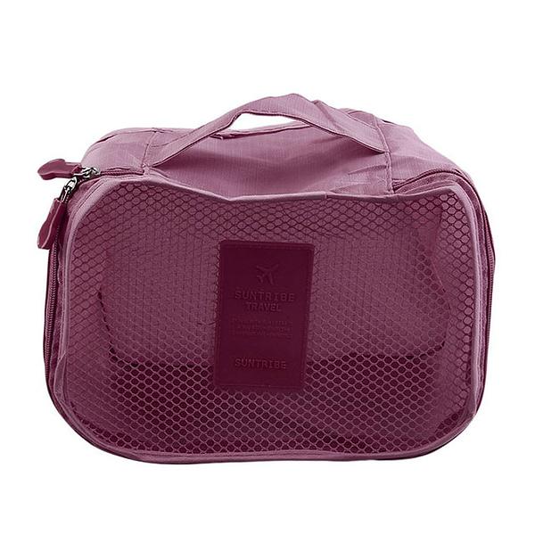 DS-08B Фото элемент бордового набора сумочек в чемодан. Кубик с сеткой. Товары для отдыха. Интернет-магазин В Отпуск
