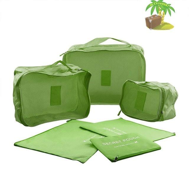 DS-12SR Малый набор сумочек в чемодан зеленый фото полного комплекта. Товары для отдыха. Интернет-магазин В Отпуск