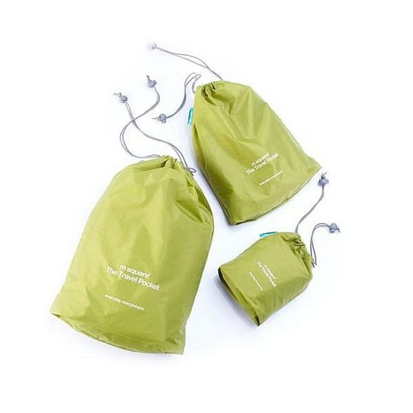 MS-013 Набор зеленых водонепроницаемых мешочков для белья фото комплекта. Товары для отдыха. Интернет-магазин В Отпуск