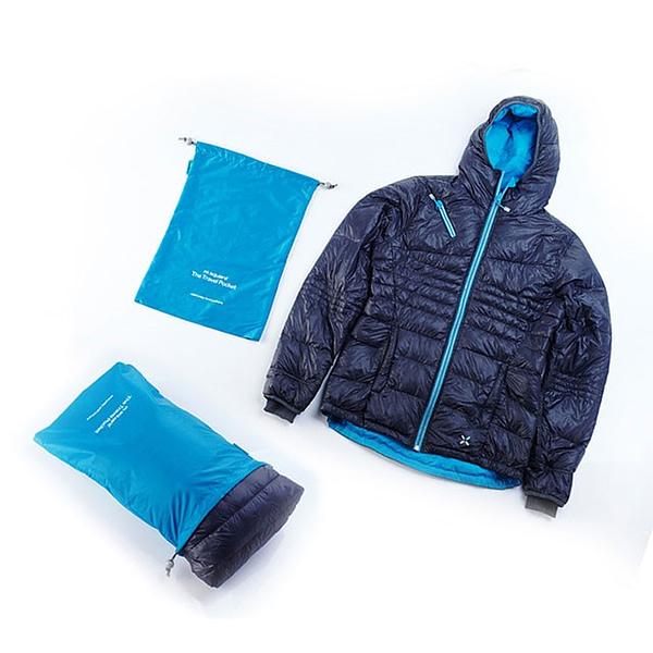 MS-016 Набор голубых водонепроницаемых мешочков для белья фото с курткой. Товары для отдыха. Интернет-магазин В Отпуск