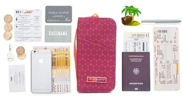 Фото наполнение красного в ромб органайзер для паспорта. Товары для отдыха. Интернет-Магазин В Отпуск