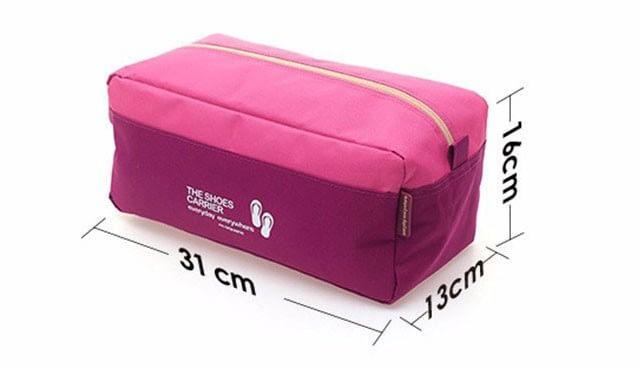 Фото размеры однотонных розового и синего чехла для обуви. Товары для отдыха. Интернет-магазин В Отпуск