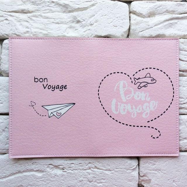 Фото разворот паспортная обложка Bon Voyage. Коллекция обложек Путешествуй!