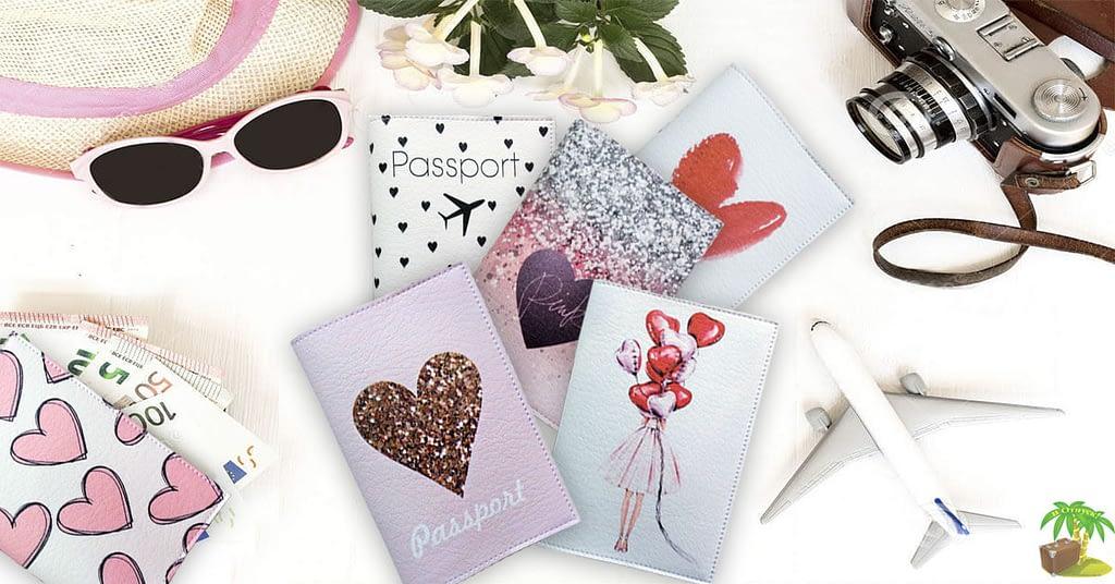 Обложки на загранпаспорт коллекции Сердца. Фото для соцсетей. Товары для отдыха. Интернет-магазин В Отпуск