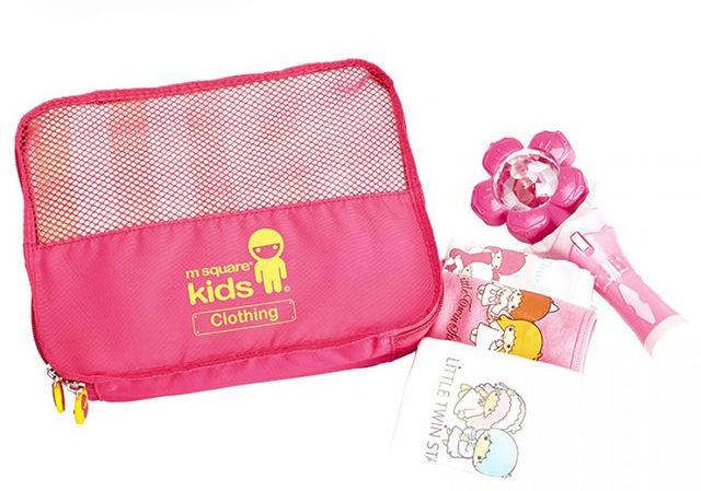 MS-001K Фото розовый детский набор сумок из 4х элементов - сумка для одежды. Товары для отдыха интернет-магазин В Отпуск