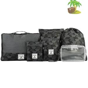 DS-001MS Набор 6шт. сумочек в чемодан серый узор главное фото. Товары для отдыха. Интернет-магазин В Отпуск