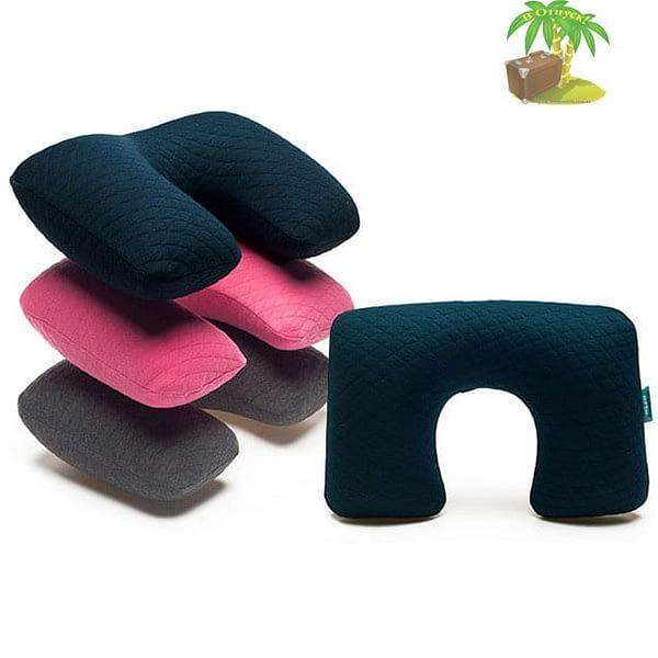 Фото дорожные надувные подушки со съемным чехлом палитра цветов