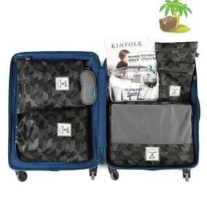 DS-001MS Набор 6шт. сумочек в чемодан серый узор фото 1. Товары для отдыха. Интернет-магазин В Отпуск