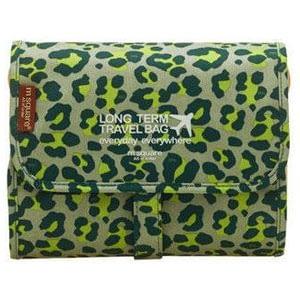 Фото Косметичка-трансформер из текстиля палитра - зеленый леопард