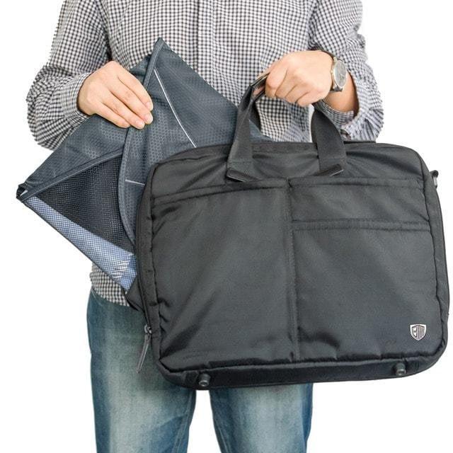 PO-04 Серый органайзер для рубашек, юбок и брюк. Фото в сравнении с сумкой. Товары для отдыха. Интернет-магазин В Отпуск