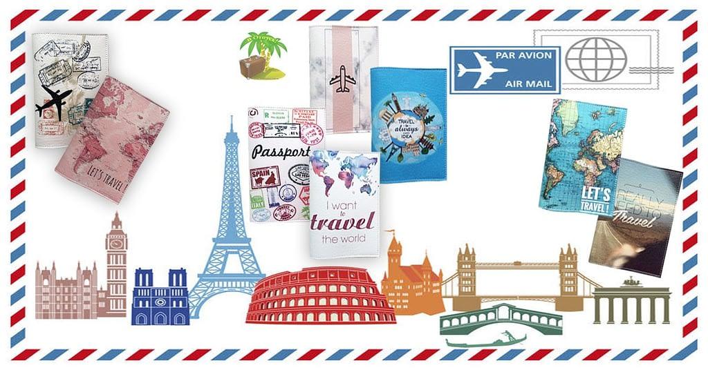 Обложки на загранпаспорт коллекции Путешествуй. Фото для соцсетей. Товары для отдыха. Интернет-магазин В Отпуск