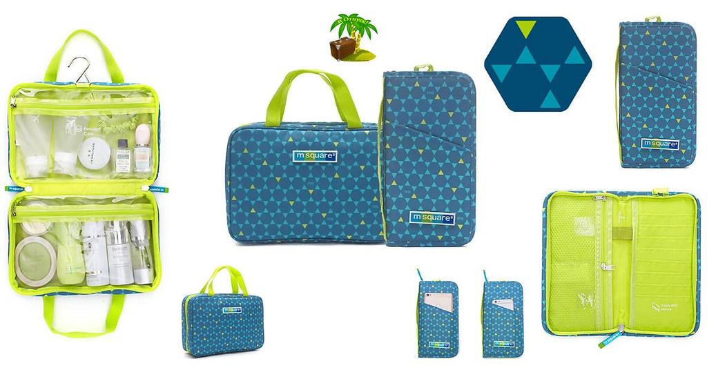 Фото для соцсетей подарочный набор косметичка с вешалкой и паспортный органайзер синий ромб. Товары для отдыха. Интернет-магазин В Отпуск