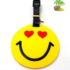 """ВВ-07 Бирка для багажа Смайл с сердечками фото анфас товары для путешественников интернет-магазин """"В Отпуск"""" от SeredinaLeta"""